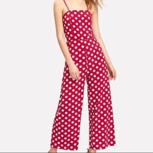 Pants - Brand new red and white polka dot jumpsuit